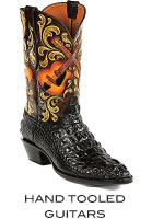 Hand Tooled Guitar Boots