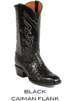 Black Caiman Flank Boots