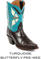 Turquise Butterfly Boots